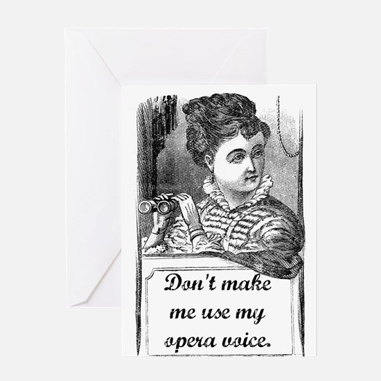 Opera Voice Greeting Card