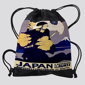 Japan-East-Asia-in-Art-Exhibition-1 Drawstring Bag
