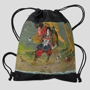 Japanese-Samurai-Kikuchi-Temitsu--C Drawstring Bag