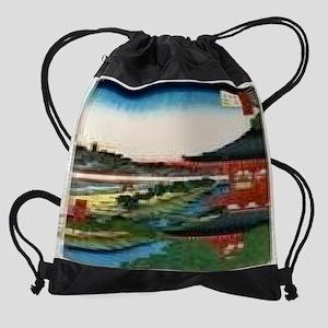Pagoda-of-Zojoji-Akabane-from-the-S Drawstring Bag