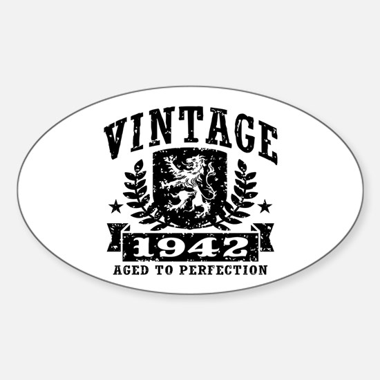 Vintage 1942 Sticker (Oval)