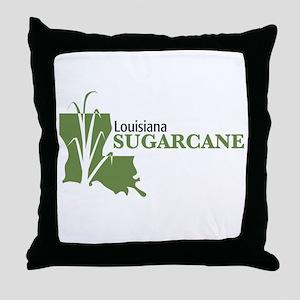Louisiana Sugarcane Throw Pillow