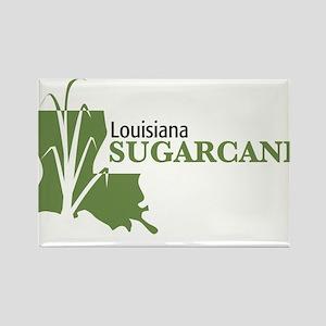 Louisiana Sugarcane Rectangle Magnet