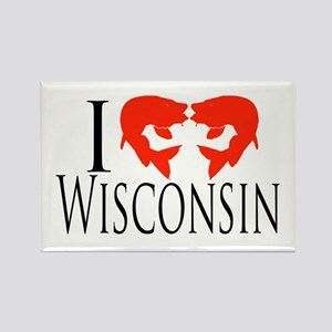I fish Wisconsin Rectangle Magnet