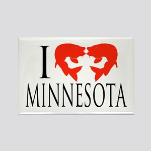 I fish Minnesota Rectangle Magnet