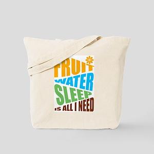 FRUIT.WATER.SLEEP Tote Bag