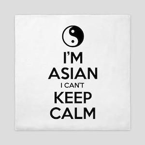 Im Asian I Cant Keep Calm Queen Duvet