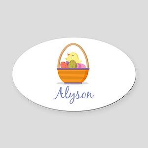 Easter Basket Alyson Oval Car Magnet