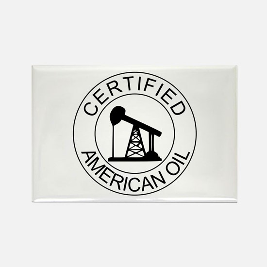 Certified American Oil Rectangle Magnet