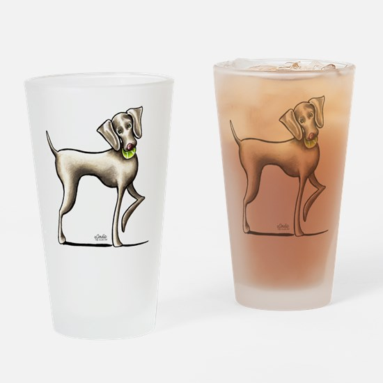 Weimaraner Tennis Drinking Glass