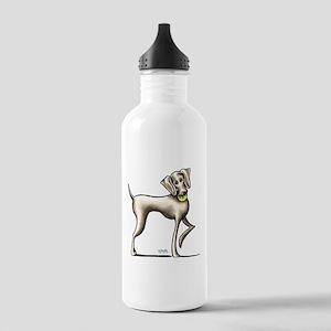 Weimaraner Tennis Water Bottle