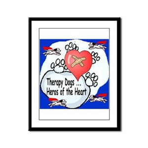 Therapy Dogs! Framed Panel Print