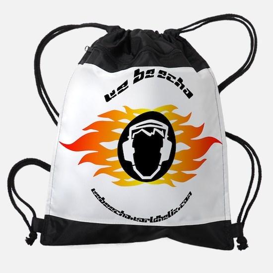 we be echo flaming logo Drawstring Bag
