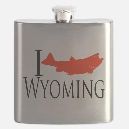 I fish Wyoming Flask
