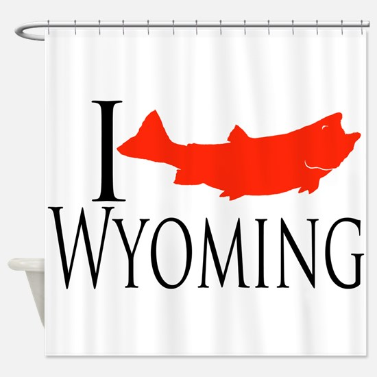 I fish Wyoming Shower Curtain