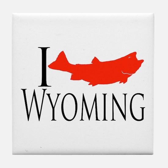 I fish Wyoming Tile Coaster