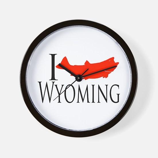 I fish Wyoming Wall Clock