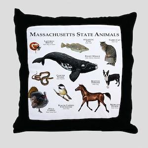 Massachusetts State Animals Throw Pillow