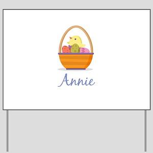 Easter Basket Annie Yard Sign