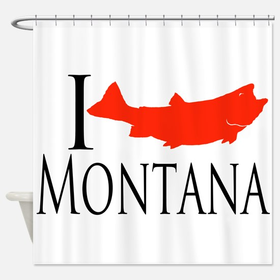 I fish Montana Shower Curtain