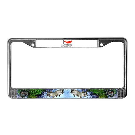 I fish Montana License Plate Frame