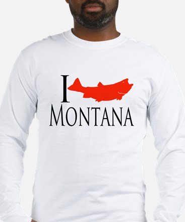 I fish Montana Long Sleeve T-Shirt