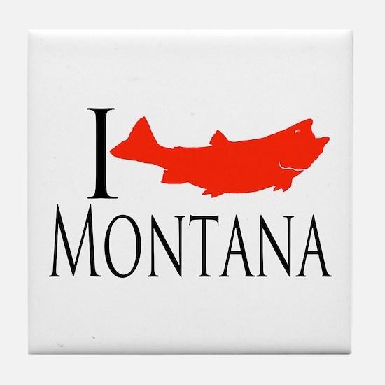 I fish Montana Tile Coaster