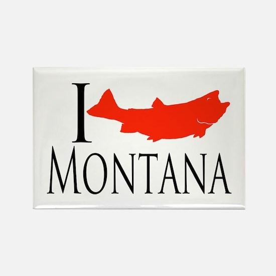 I fish Montana Rectangle Magnet (100 pack)