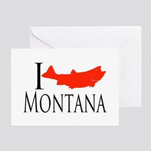 I fish Montana Greeting Card