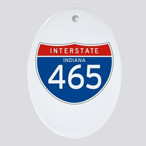 Interstate 465 - IN Oval Ornament