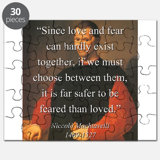 Since Love And Fear - Machiavelli Puzzle
