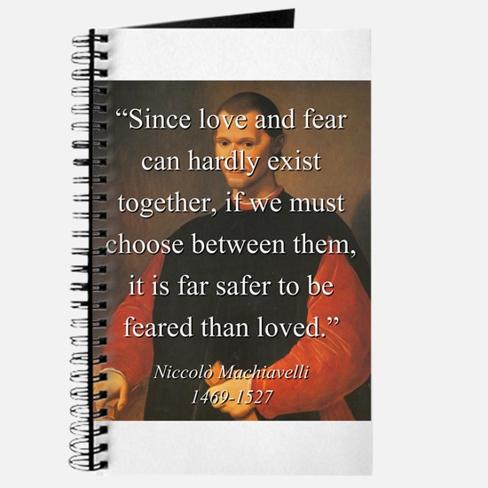 Since Love And Fear - Machiavelli Journal