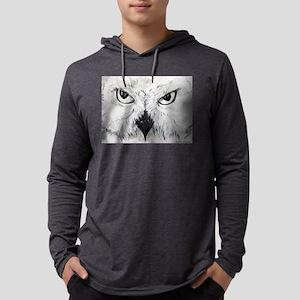 Owl! Wildlife, bird art! Mens Hooded Shirt