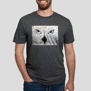 Owl! Wildlife, bird art! Mens Tri-blend T-Shirt