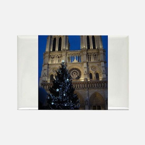 Notre Dame de Paris a NOEL Rectangle Magnet