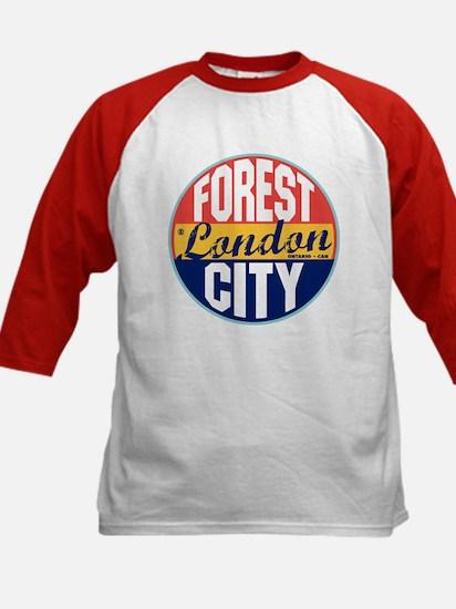 London Vintage Label Kids Baseball Jersey