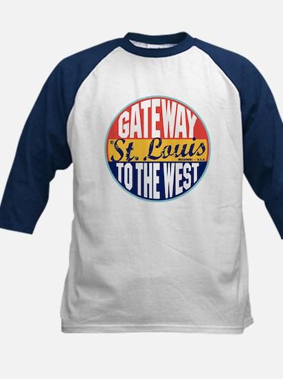 St Louis Vintage Label Kids Baseball Jersey