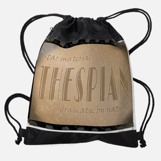 thespianstarmaterial.png Drawstring Bag