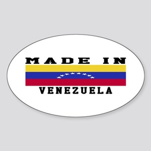 Venezuela Made In Sticker (Oval)