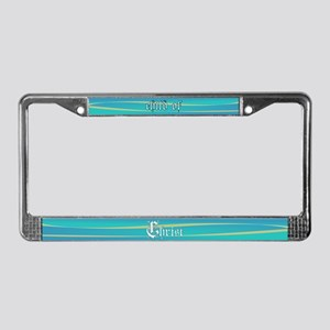Child of Christ waves License Plate Frame