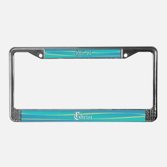 Child of Christ waves License Plate Frame