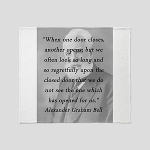 Bell - One Door Closes Throw Blanket