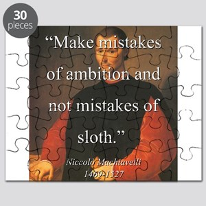 Make Mistakes Of Ambition - Machiavelli Puzzle