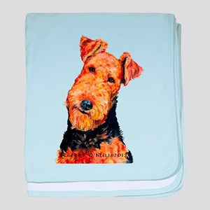 Airedale Terrier baby blanket