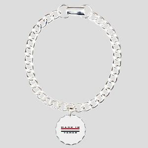 Yemen Made In Charm Bracelet, One Charm