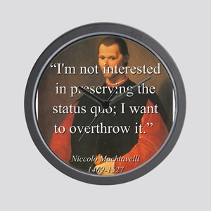 Im Not Interested In Preserving The Status Quo - W