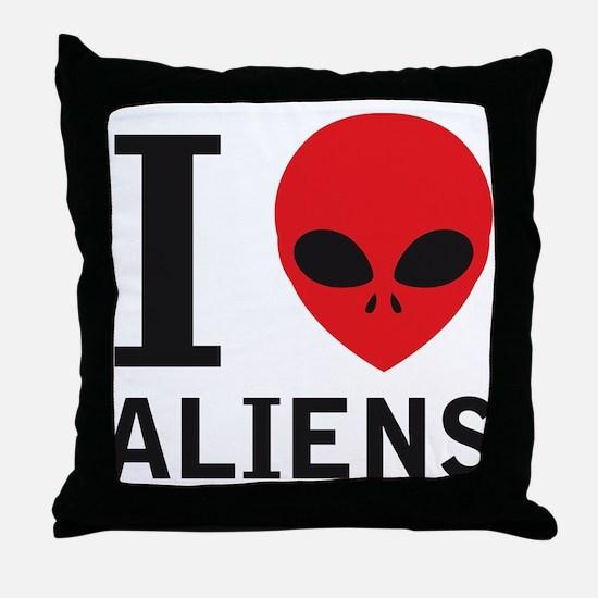 i_love_aliens Throw Pillow