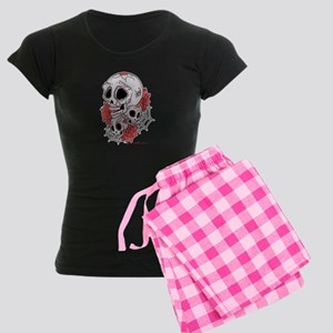 Sugar Skulls and Roses Women's Dark Pajamas