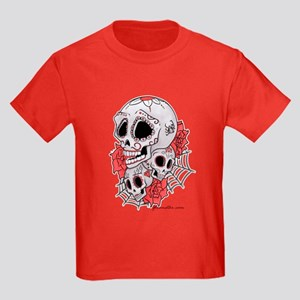 Sugar Skulls and Roses Kids Dark T-Shirt