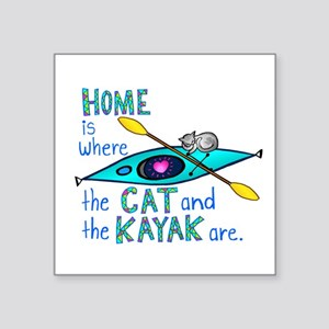 Home is where the Cat and the Kayak are Sticker